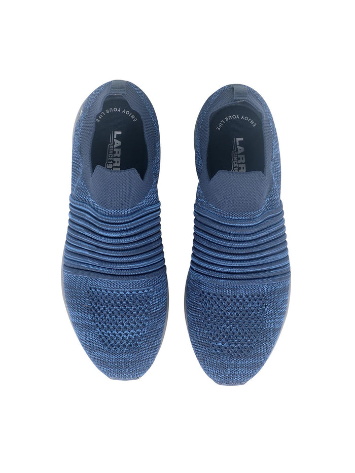 LARRIE Men Navy LaKnit Textured Upper Slip On Shoes