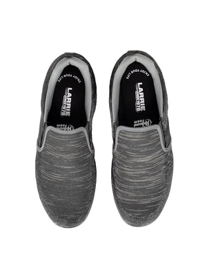 LARRIE Men Black LaKNIT Basic Slip On Shoes