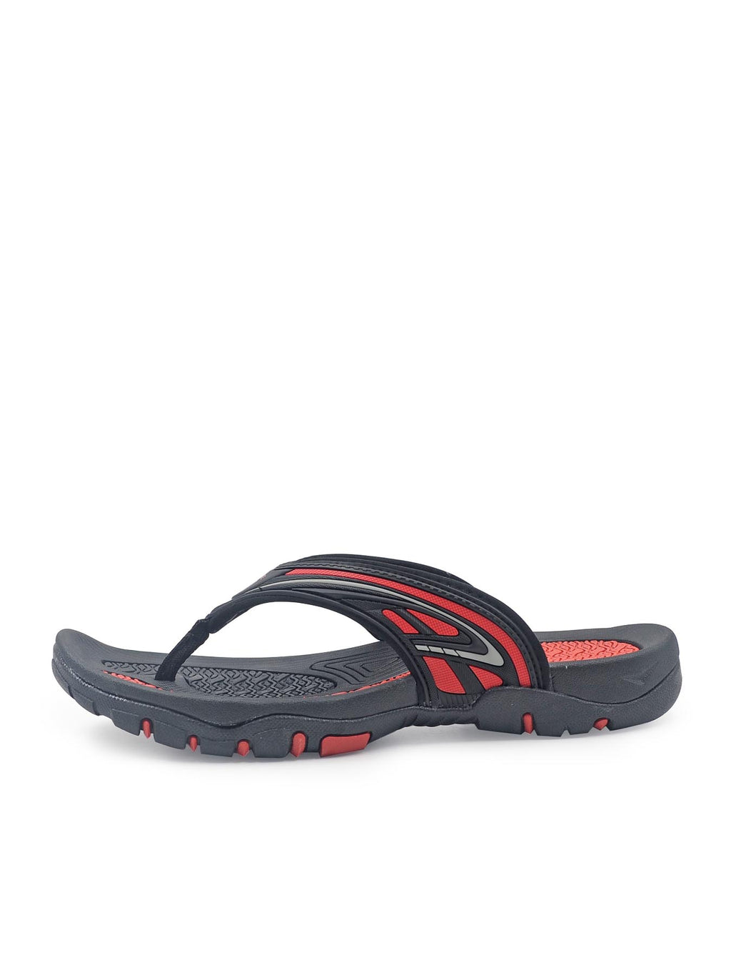 Larrie Black Sporty Sandals