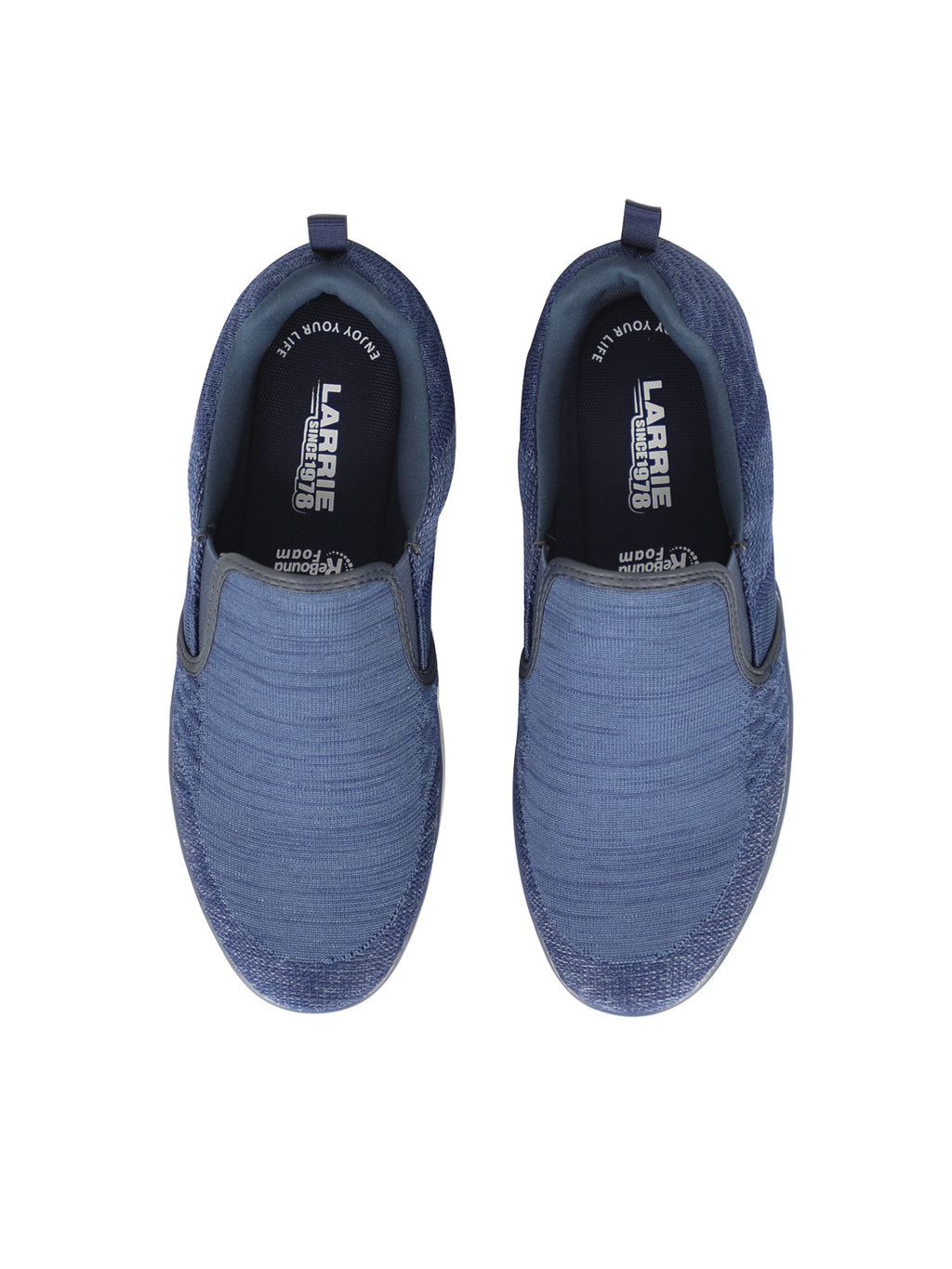 Larrie Blue LaKNIT Basic Slip On Shoes