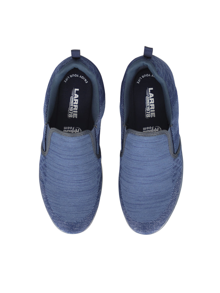 LARRIE Men Navy LaKNIT Basic Slip On Shoes