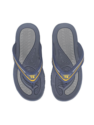 Larrie Navy Sporty Sandals