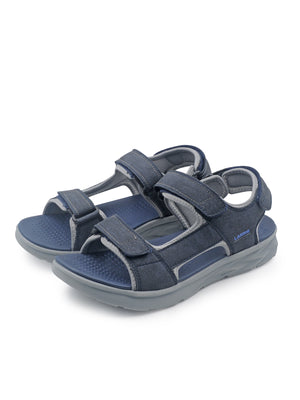 Larrie Navy Double Strap Sandals