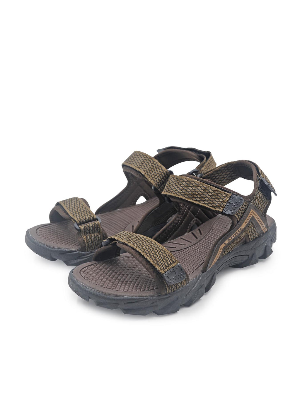 Larrie Dark Brown Outdoor Sporty Sandals