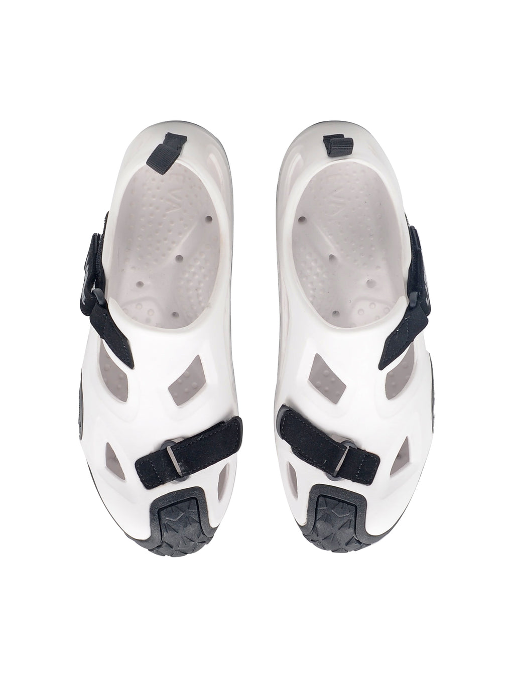 Larrie White Cut-out Sporty Sandals