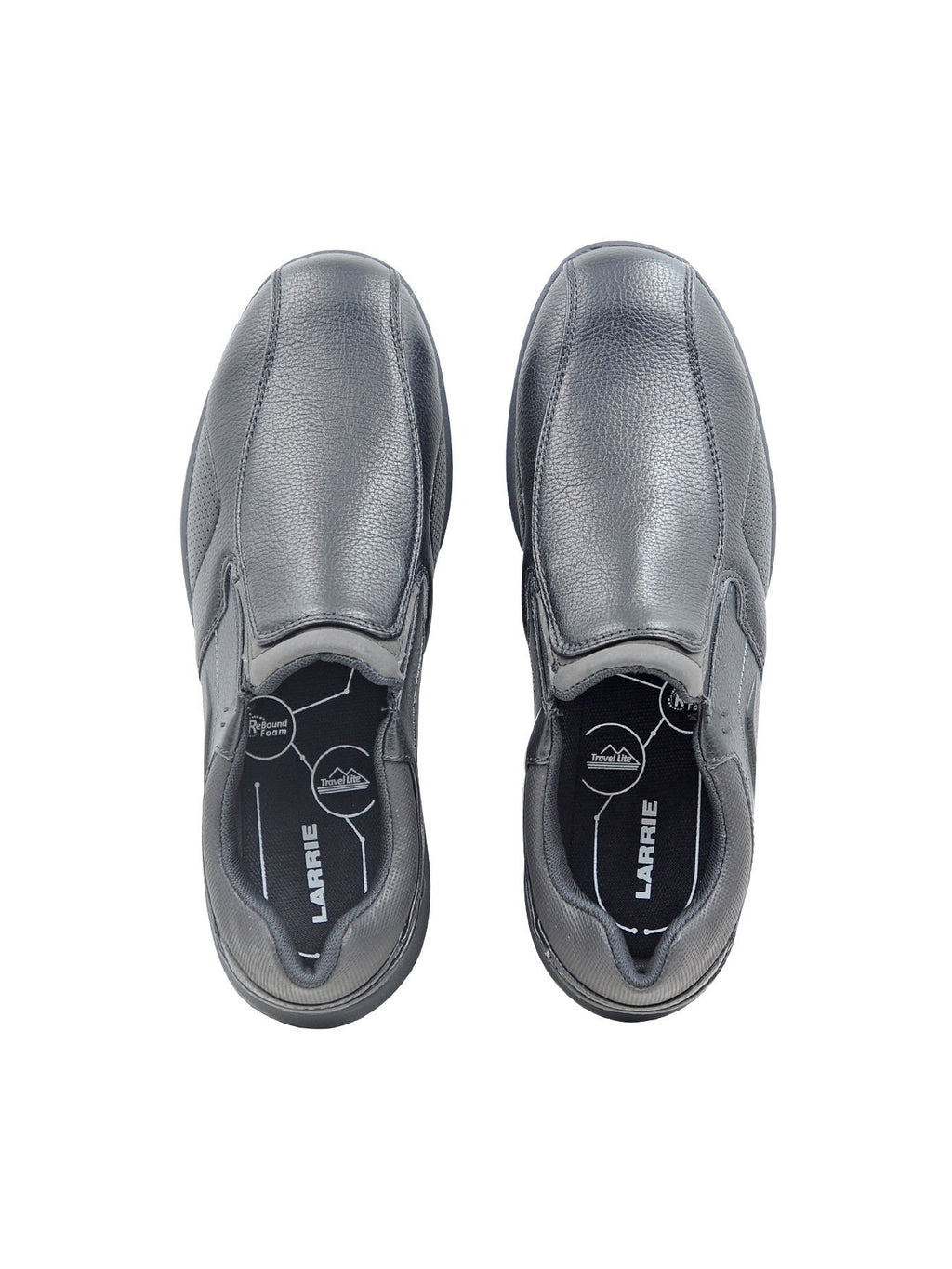 Larrie Black Smooth Slip On Shoes