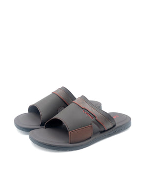 LARRIE Men Coffee Basic Cut-Out Sandals
