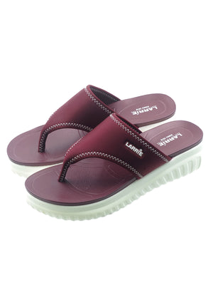 Larrie Red Comfort Thong Slip On Sandals