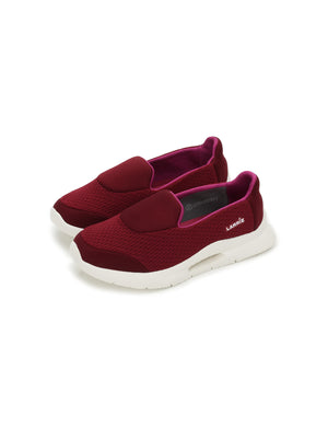 Larrie Women Red Lightweight Slip-On Casual Sporty Sneakers