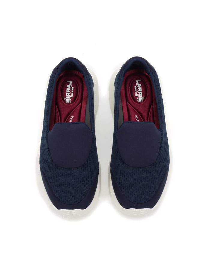 Larrie Navy Lightweight Slip-On Casual Sporty Sneakers