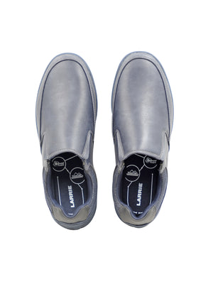 Larrie Navy Smooth Slip On Shoes
