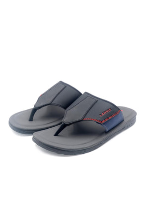 LARRIE Men Black Basic Sandals