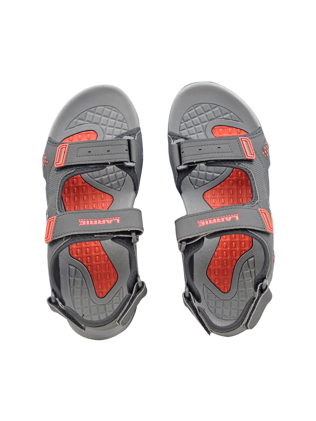 LARRIE Men Black Adjustable Strap Outdoor Sandals