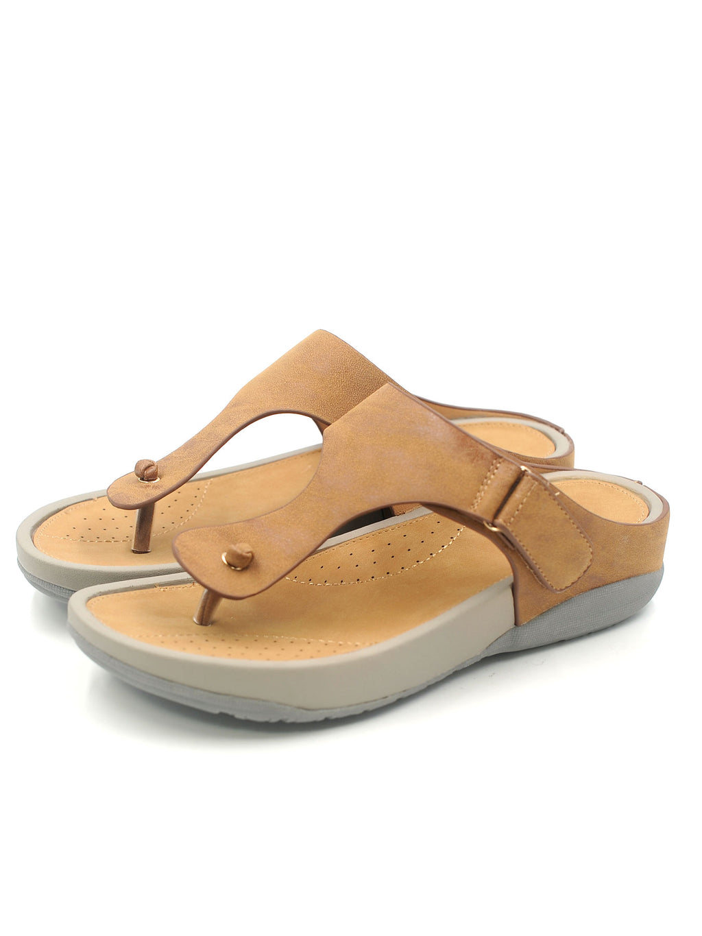 Larrie Camel Lightweight Casual Sandals