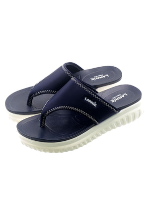 Larrie Navy Comfort Thong Slip On Sandals