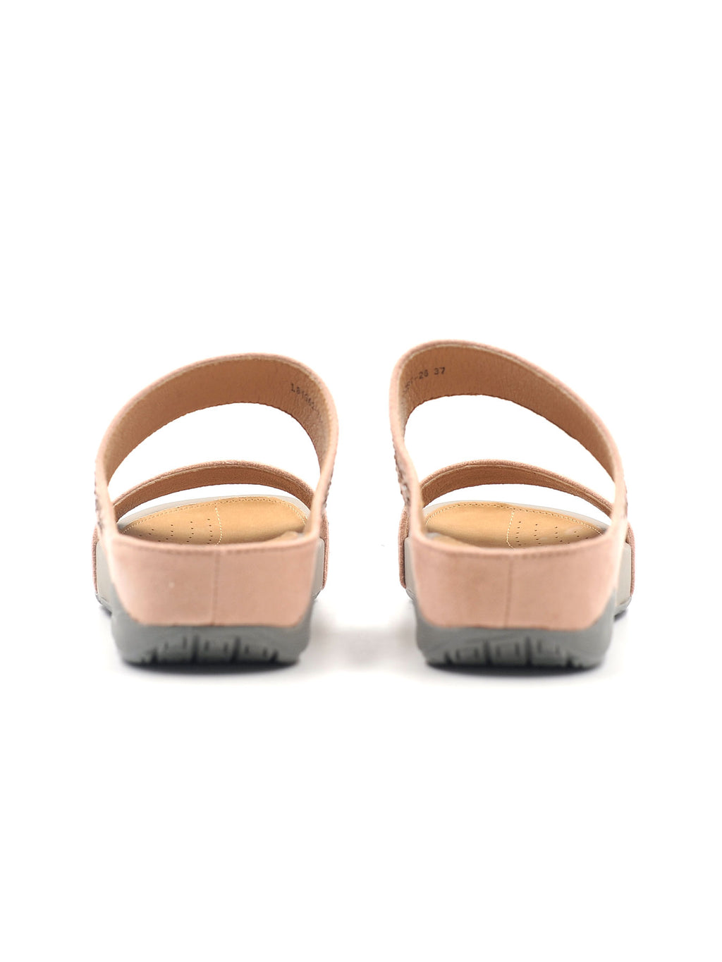 Larrie Pink Shiny Casual Sandals