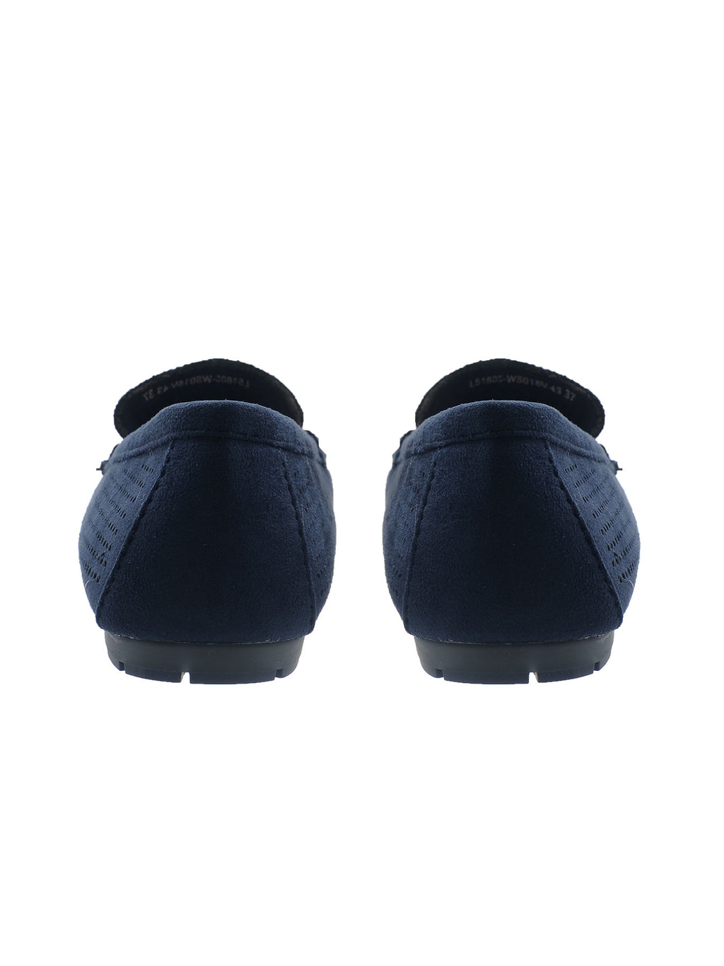 Larrie Navy Comfortable Moccasin Style Flats