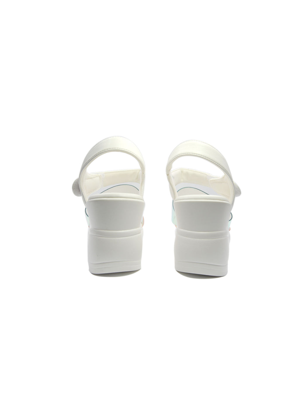 Larrie White Stylish Fashionable Wedges Sandals