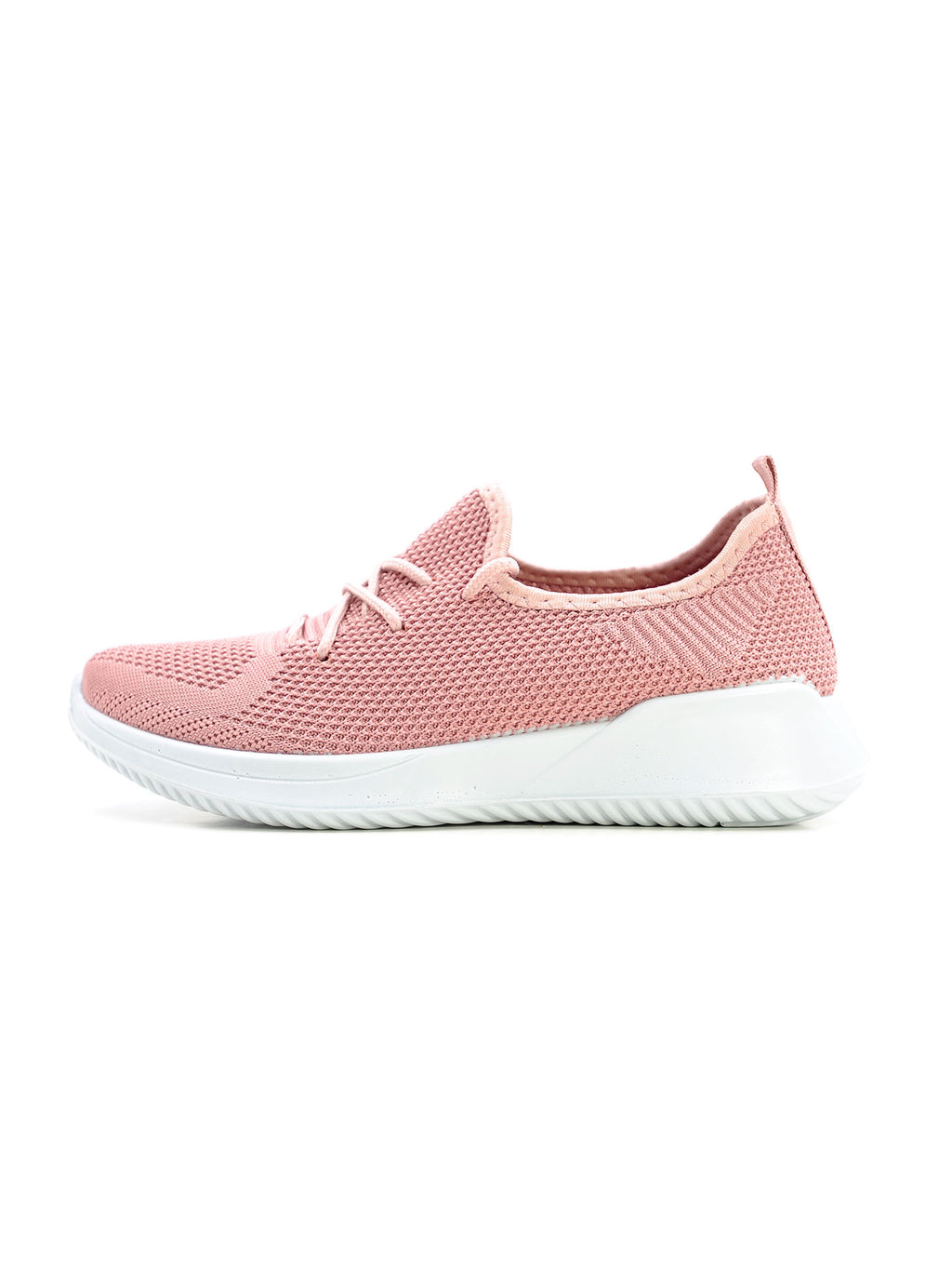 Larrie Pink Lace Up Fit Lightweight Cushioned Sneakers