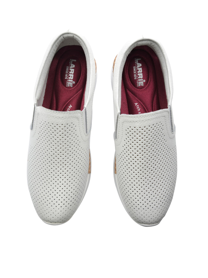Larrie White Classic Slip-On Platform Sneakers