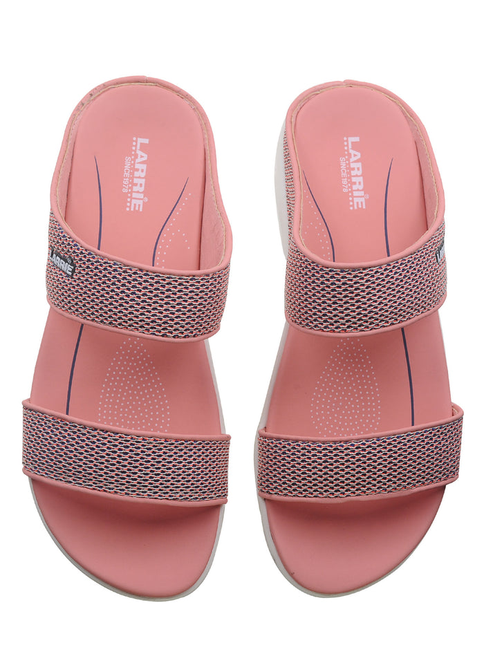 Larrie Pink Clean Classic Casual Sandals