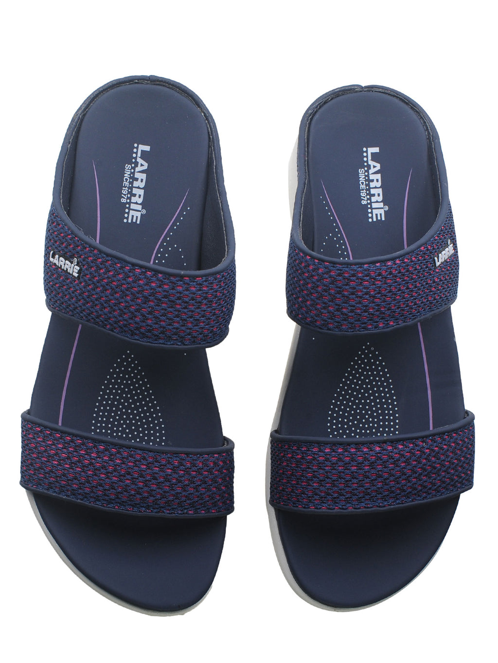 Larrie Navy Clean Classic Casual Sandals
