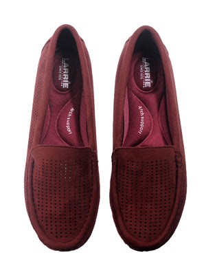 Larrie Red Comfortable Moccasin Style Flats