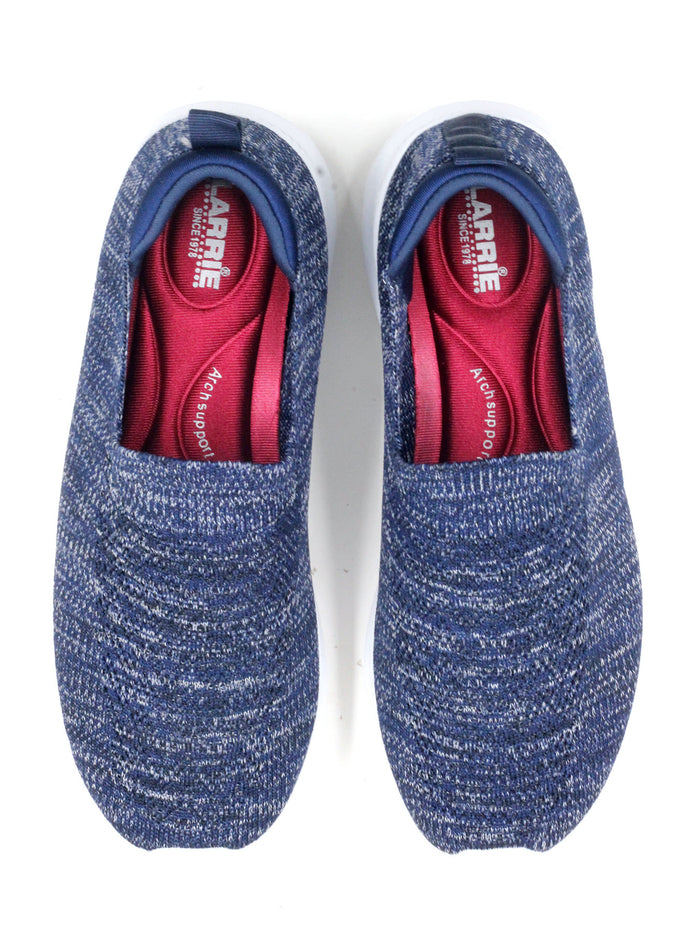 Larrie Women Navy Mesh Slip On Sneakers