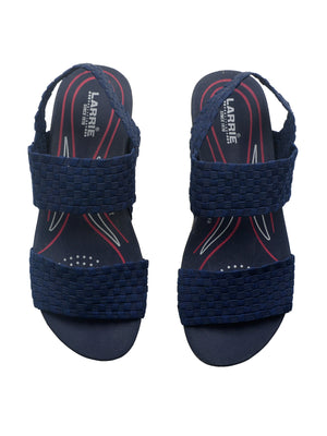 Larrie Navy Interlaced Upper Sporty Sandals