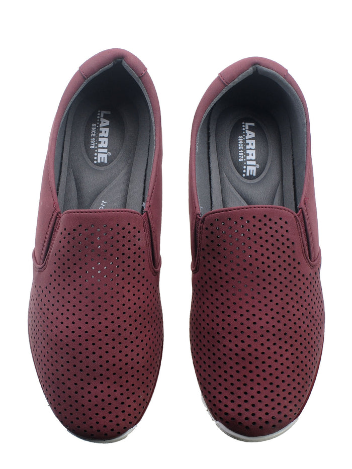 Larrie Red Urban Line Personality Moccasin Flats