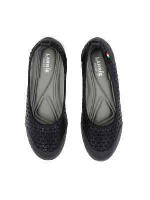 Larrie Women Black Stretchable Casual Sporty Flats