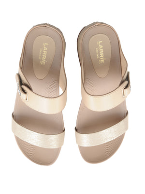 Larrie Nude Dual Strap Stylish Sandals