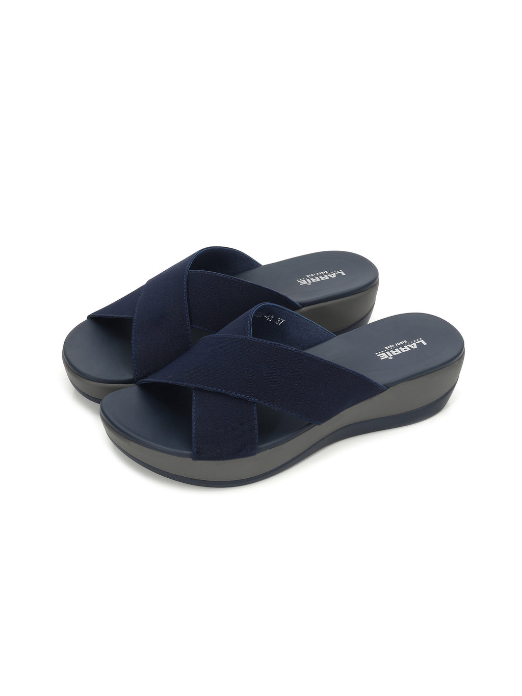 Larrie Navy Light Coloured Feminine Casual Sandals