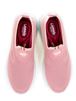 Larrie Pink Fit Styles Lightweight Cushioned Sneakers