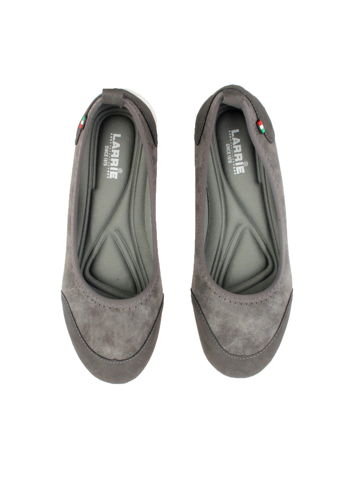 Larrie Women Grey Stretchable Casual Sporty Flats