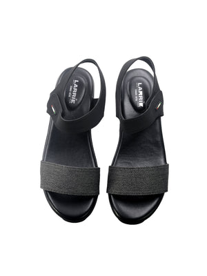 Larrie Black Breathtaking Cushioned Fashionable Sandals