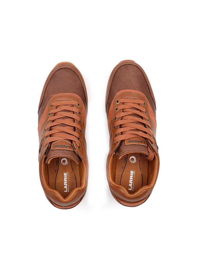 Larrie Brown Leatherette Panel Sneakers