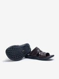 Larrie Coffee Cut Out Strap Sandals