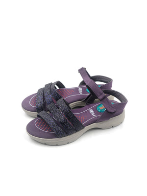 Larrie Women Purple Ankle Adjustable Casual Sandal