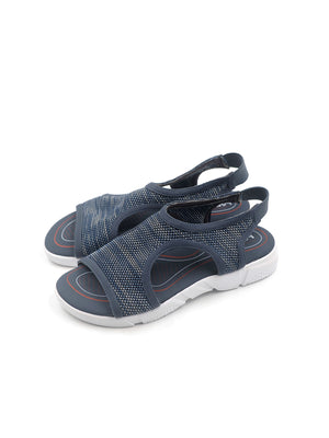 Larrie Women Navy Sporty Slip On Sandals