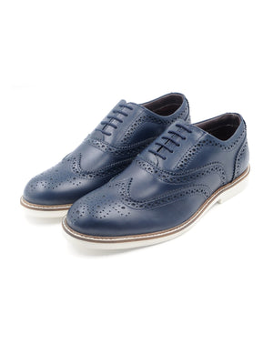 LR LARRIE Navy Basic Lace Up Shoes