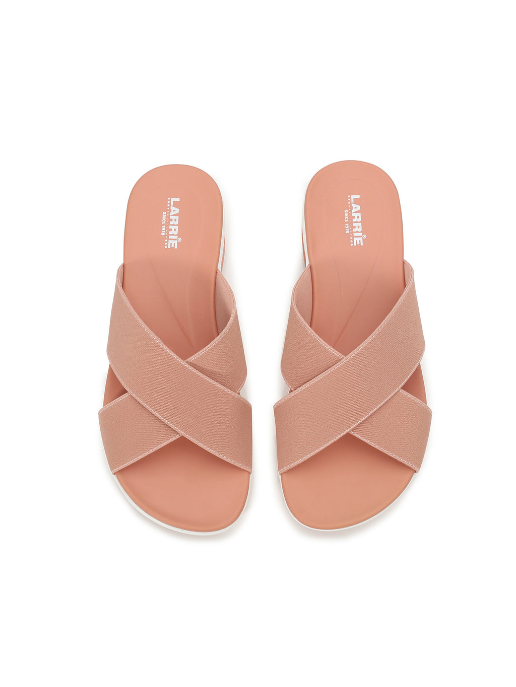 Larrie Pink Light Coloured Feminine Casual Sandals