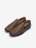 LARRIE Men Brown Contrast Panel Loafers