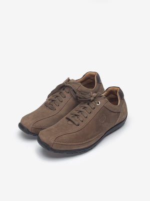 Larrie Light Coffee Lace Up Casual Shoes