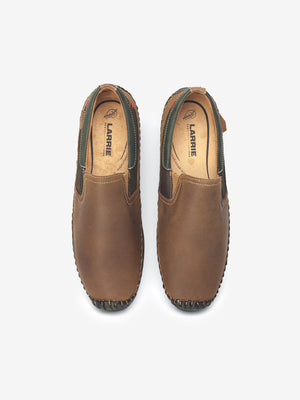 Larrie Brown Contrast Panel Loafers