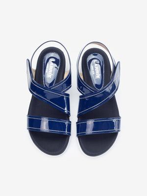 Larrie Women Navy Creeper Casual Basic Sandals
