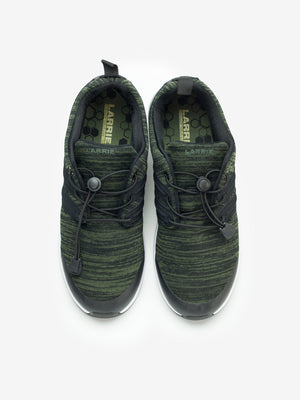 Larrie Dark Green LaKNIT Panel Sides Sneakers