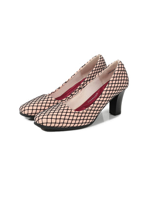 Larrie Pink Checked Design Upper Business Heel
