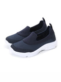 Larrie Navy Stretchable Sock Fit Sporty Sneakers