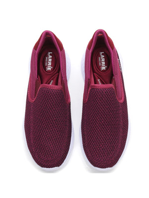 Larrie Purple Stretchable Sock Fit Sporty Sneakers